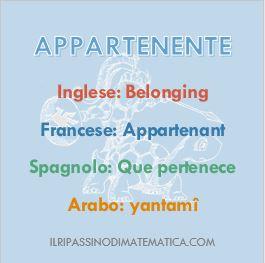 Glossario-Appartenente