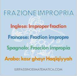 180506Glossario- Frazione impropria