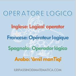 180523Glossario- Operatore logico