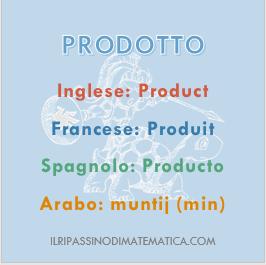 180602Glossario- Prodotto