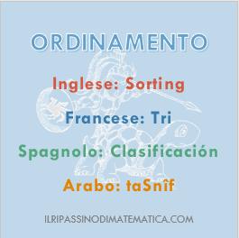 180604Glossario- Ordinamento