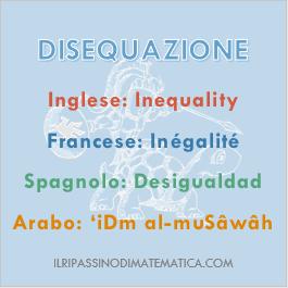 180822Glossario - Disequazione