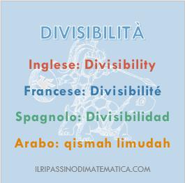 180914Glossario - Divisibilità