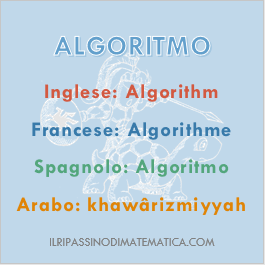 180918Glossario - Algoritmo