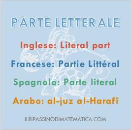180926Glossario - Parte letterale